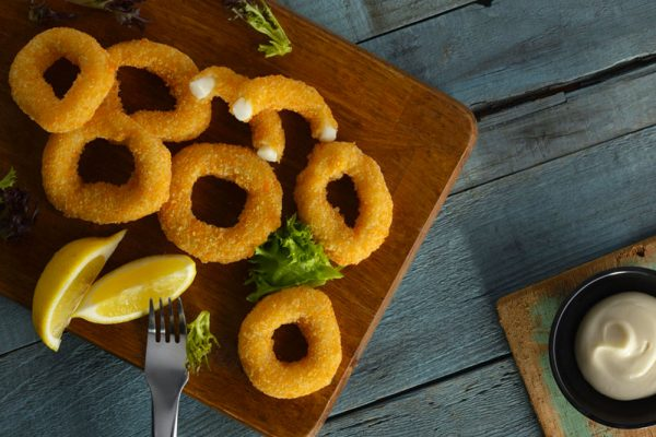 Crumbed Squid Ring