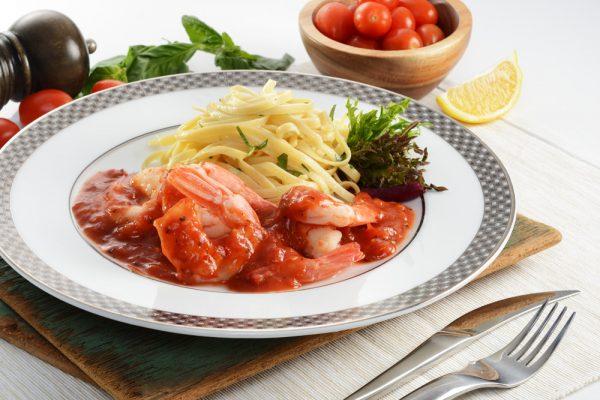 Prawn In Tomato Basil Sauce